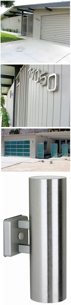 Mid Century Modern Wall Sconce: Dual Outdoor Wall Sconce | NOVA68 Modern Design $200