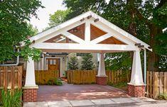 "Craftsman ""Sears Kit House"" Remodel - This Old House Carport Plans, Carport Garage, Pergola Carport, Carport Ideas, Gazebo, Garage Doors, Outdoor Rooms, Outdoor Living, Craftsman Remodel"