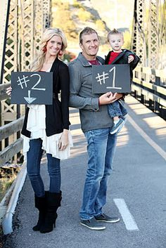 cute pregnancy #2 announcement. In my case, If I do this someday it'll have to be #3!!