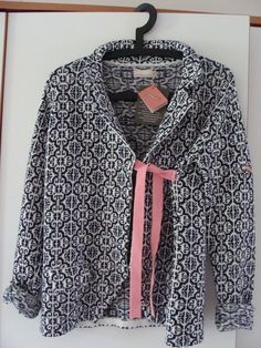 black & white with a pinch of pink...Odd Molly tie front jacket