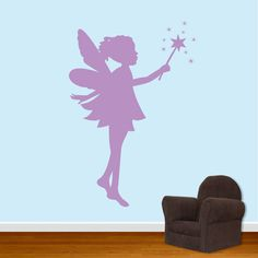 Pixie Fairy Wall Decal Girls Room Decal. $30.00, via Etsy.