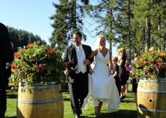 Wine and sunshine make for the perfect wedding. At Church & State Wines. #Wedding #Victoria #Cider #heartVICTORIA | www.tourismvictoria.com