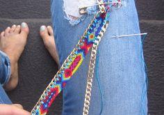 DIY friendship bracelet by WrightforMichelle....Fabulous.