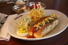 Haute Dogs: Silver-service kosher hot dog from Palm Beach Grill