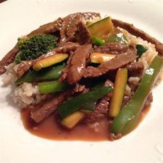 Savory Beef Stir-Fry: We tried this tonight and really liked it. Served it over rice and it was a yummy and pretty quick dinner. :)