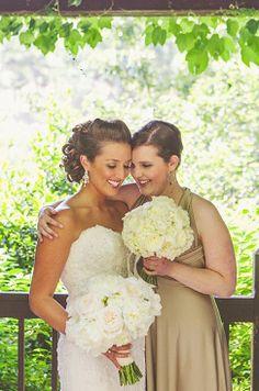 getting ready - bride and bridesmaid, pre-wedding photos