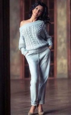Winter Fashion Outfits, Autumn Fashion, Casual Outfits, Knit Fashion, Womens Fashion, Yeezy Fashion, Casual Chique, Cool Sweaters, Crochet Clothes