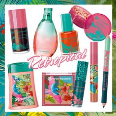 New In!! New Summer products by Yves Rocher!! We are loving the fun Retropical beauty collection!!!