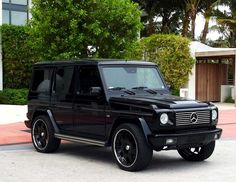 Black Mercedes G-Wagon! These babies will always e on my hot list! Jus sayin