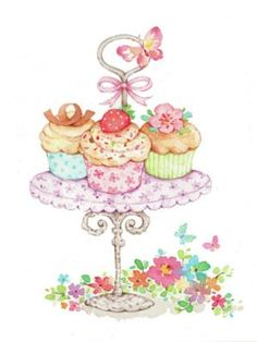 New ideas for birthday cake illustration sweets
