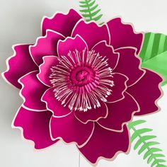SVG Petal #7 Paper Flower Template with for Cutting Machines Such as Cricut