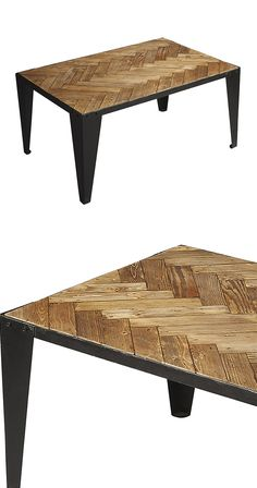 We simply adore the herringbone pattern found on the top of this Tatianna Cocktail Table and we can't help but think you will as well. A bold choice for a sophisticated sitting area, this table feature...  Find the Tatianna Cocktail Table, as seen in the A Private Luxury for Creatives Collection at http://dotandbo.com/collections/a-private-luxury-for-creatives?utm_source=pinterest&utm_medium=organic&db_sku=123375