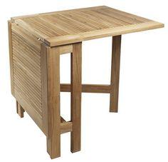 Cinas Butterfly Klapbord - Teak - Fint og praktisk foldebord til den lille terrasse, have eller altan. Bordet er i massiv teaktræ og kan anvendes med en eller begge klapper slået ud.