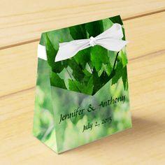 Leafy Wedding Favor Box