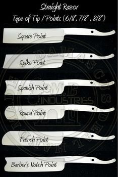 Image result for straight razor point