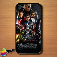 The Avengers Superhero Movie Custom iPhone 4 or 4S Case Cover