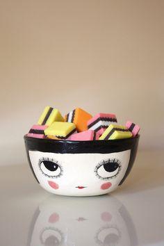 Candy on the brain? Ceramic bowl | Jam Fancy