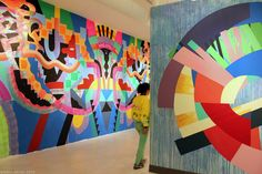 Maya Hayuk Aqa, Visual Communication, Wall Design, Street Art, Patterns, Abstract, Creative, Artist, Painting