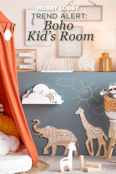 Create the perfect boho-inspired space for your child with a few easy touches! Simply combine whimsical decor and warm colors to recreate your own version. Boys Bedroom Decor, Girls Bedroom, Nursery Decor, Wall Decor, Creative Gift Wrapping, Camping Glamping, Warm Colors, Tents, Diy Home Decor