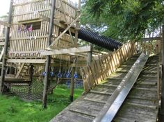Apples and Pears Adventure playground in the U.K.   This has a worker there called a playworker! Love this. They're definitely doing something right. I think this would be a good job for me. When I grow up I want to be a playworker.