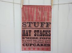 Western Party Candy or Dessert Bar Sign by InvitationToMars, $12.00