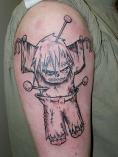 Amazing Voodoo Doll Tattoo for Men