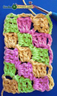 Diagonal Box Stitch Tutorial - Stitches'N'Scraps.com