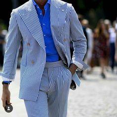 Leonida Ferrarese seersucker suit