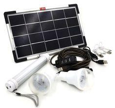 Sustentabilidade Energética Solar Termosolar e Eólica : Painel Solar 6W USB Kit de Iluminação Bricolage, K...