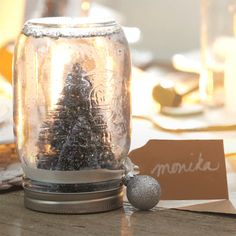 Learn how Monika turns a mason jar into a snowglobe. MyCANVAS