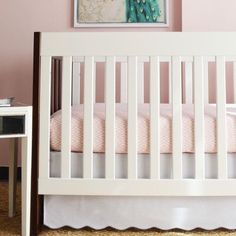 Oliver B Baby 2 Piece Crib Bedding Set Color: Dove Grey / Pink