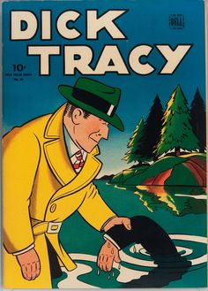 Cover art for Dick Tracy issue no. 56, based on the Chicago Tribune New York News Syndicate comic strip character, published by Dell Publishing Co., United States, 1944, by Chester Gould.