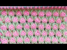 Garden of Tulips🌷🌷🌷🌷🌷🌷🌷 pattern for Kids Garments, Blankets. Garden of Tulips🌷🌷🌷🌷🌷🌷🌷 pattern for Kids Garments, Blankets. Baby Knitting Patterns, Knitting Stitches, Knitting Designs, Free Knitting, Purl Bee, Knitting Videos, Tulips, Knit Crochet, Sewing