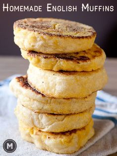 The absolute best recipe for homemade english muffins that gives you all of those delicious nooks and crannies.