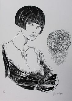 """Crepax, Guido - giant sized lithograph """"Valentina"""" - W.B."""