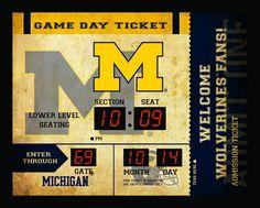 Michigan Wolverines Clock - 14x19 Scoreboard - Bluetooth