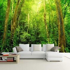 Natural Scenery HD Large Wall Mural Forest Photo Wallpaper Living Room Landscape Home Improvement Customized Wall Paper Mural Forest Wallpaper, Tree Wallpaper, Nature Wallpaper, Photo Wallpaper, Scenery Wallpaper, Large Wall Murals, 3d Wall Murals, Foto 3d, Dining Room Wallpaper