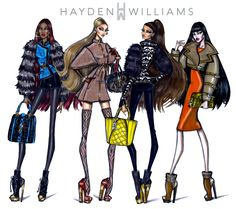 Hayden Williams Fashion Illustrations   FW15 collection by Hayden Williams