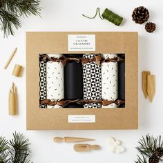 Luxury Monochrome Christmas Crackers | Black and White