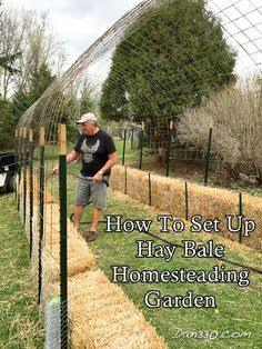 How To Set Up Hay Bale Homesteading Garden Homesteading  - The Homestead Survival .Com