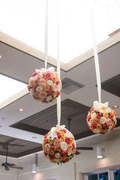 Floral floating spheres. Such whimsy!