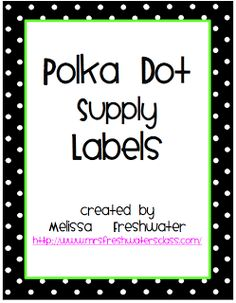 Classroom Supply Labels -There are blank ones also, so you can use them for anything!