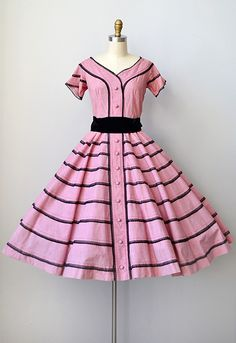 1950s Dress Herbert Sondheim #1950s #vintage #vintagedress