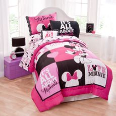 because it would be fun to have a disney room Disney® Minnie Mouse Twin Comforter Set