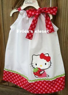 Super Cute Hello Kitty Pillowcase dress