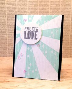 peace joy love by Kimberly Crawford for ABNH wm by kimberlykscrawford, via Flickr