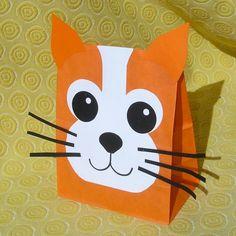 Cat Treat Sacks - Kitten Kitty Farm Pet Theme Birthday Party Favor Bags by jettabees on Etsy via Etsy