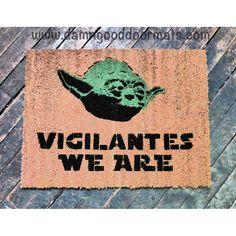 VIGILANTES Star Wars Yoda doormat geek stuff by DamnGoodDoormats