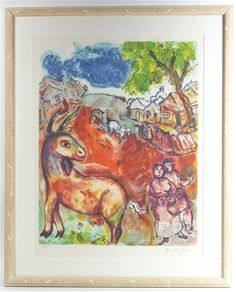 Lot 2776  After Marc Chagall  (French/Russian, 1887-1985)  Untitled  lithograph  edition 102/150  29 x 22 3/8 inches.  Estimate $ 400-600