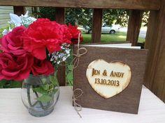 Rustic Wedding Guest Book  Wedding Book  Bridal by TheSmilinBride, $47.00